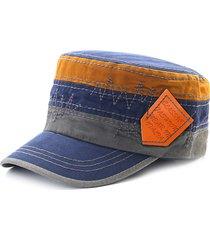 cappellino a visiera piatta colorful con cappuccio da viaggio per berretto militare da viaggio in cotone unisex