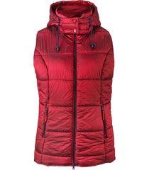 gilet trapuntato con cappuccio rimovibile (rosso) - bpc bonprix collection