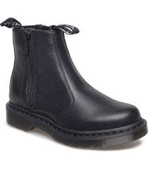 2976 w/zips black milled nappa shoes boots ankle boots ankle boot - flat svart dr. martens