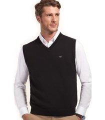 sweater business sin mangas negro ferouch