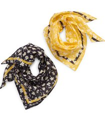 madewell set of 2 friendship bandanas in pale sunflower at nordstrom