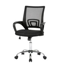 cadeira de escritório multilaser executive cromada giratória - ga197 ga197