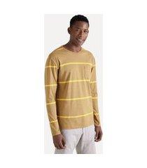 camiseta ml navy casual reserva amarelo