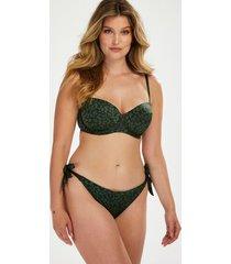 hunkemöller tonal leo brazilian-bikiniunderdel grön