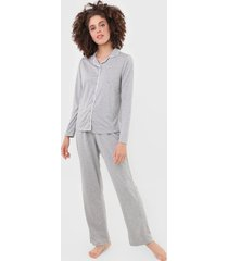 pijama hering frisos cinza
