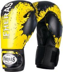 luva boxe muay thai fheras lines top black stain amarelo - amarelo - dafiti
