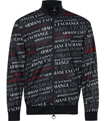 man jersey sweatshirt sweat-shirt trui blauw armani exchange