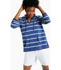 charter club striped hooded top, created for macy's