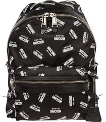 moschino logo all over backpack