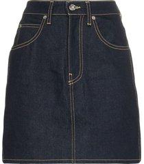 raw denim tallulah skirt