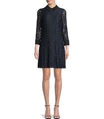 paisley lace mini dress