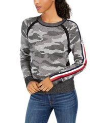 tommy hilfiger cotton camo jacquard sweater