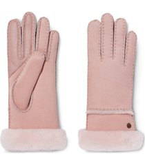 women's ugg seamed touchscreen compatible genuine shearling lined gloves, size medium