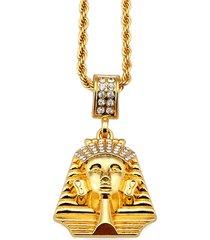 piercing per uomo in oro con strass faraone ciondolo dichiarazione collana uomo accessori