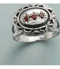 adoration garnet ring