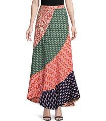 medley patchwork maxi skirt