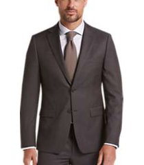 calvin klein dark berry plaid skinny fit suit