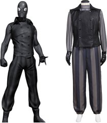 spider man noir cosplay costume men halloween carnival party outfit custom made