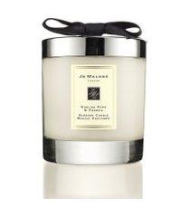 vela perfumada english pear & freesia home candle 200g - bege