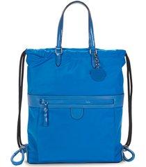 cole haan women's nylon drawstring backpack - cobalt blue