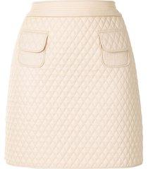 paule ka diamond-quilted mini skirt - neutrals