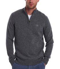 barbour men's tisbury quarter-zip rib-cut sweater