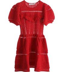 self-portrait knit mini dress