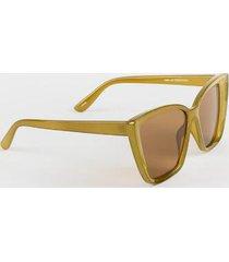christian angular cat eye sunglasses - olive