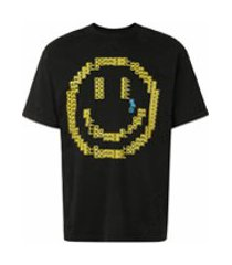 domrebel camiseta sad emoticon com destroyed - preto