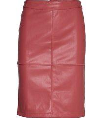 vipen new skirt-fav knälång kjol röd vila