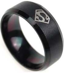 anillo superman titanio inoxidable color negro