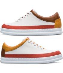 camper twins, sneaker uomo, bianco/rosso /giallo, misura 46 (eu), k100631-001