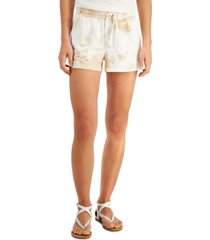 bar iii tie-dyed drawstring shorts, created for macy's