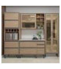 cozinha completa canela 8 pt 5 gv salina 260 cm