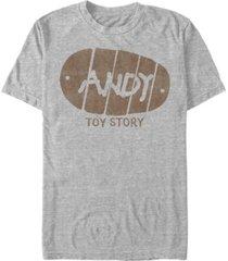 disney pixar men's toy story wood's andy boot short sleeve t-shirt
