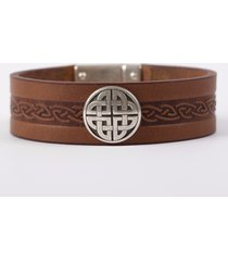 the craig leather cuff bracelet brown one size