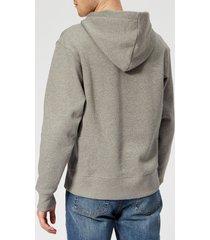 acne studios men's ferris face hoodie - light grey melange - xl - grey