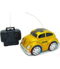 carrinho de controle remoto com luz - fusca amarelo – samba toys