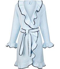 badjas simone lichtblauw::antraciet
