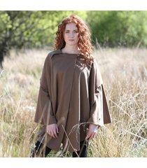 hourihan ladies single faced cape camel