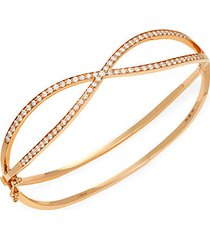 18k rose gold & diamond infinity bracelet