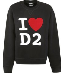 dsquared2 woven logo sweatshirt