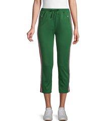 rebecca minkoff women's jolie striped tape jogging pants - yellow multi - size s
