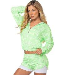 chaqueta poliéster talla s - m-16 verde neon 94553