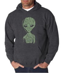 la pop art men's word art hoodie - area 51