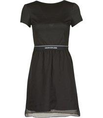 korte jurk calvin klein jeans logo waistband dress