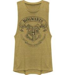 fifth sun harry potter hogwarts school crest festival muscle women's tank