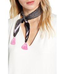 rebecca minkoff dreamday tassel silk twill scarf in black at nordstrom
