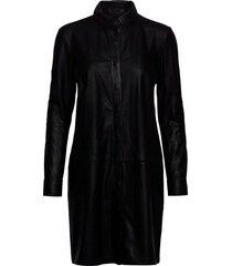 long shirt korte jurk zwart depeche