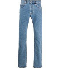 versace slim fit medusa head jeans - blue